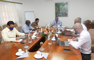 President Ramkalawan chairs Second Review meeting of Concept Plans for La Digue Hospital